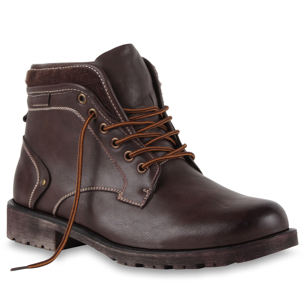 herren biker boots derbe stiefel lederoptik schuhe 99603 gr 40 45 top ebay. Black Bedroom Furniture Sets. Home Design Ideas