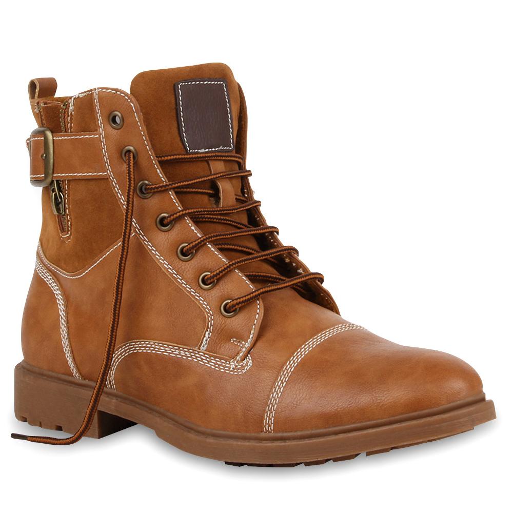 Warm Gefütterte Herren Worker Boots Outdoor Schuhe 99689 Gr. 40-45 Mens Special