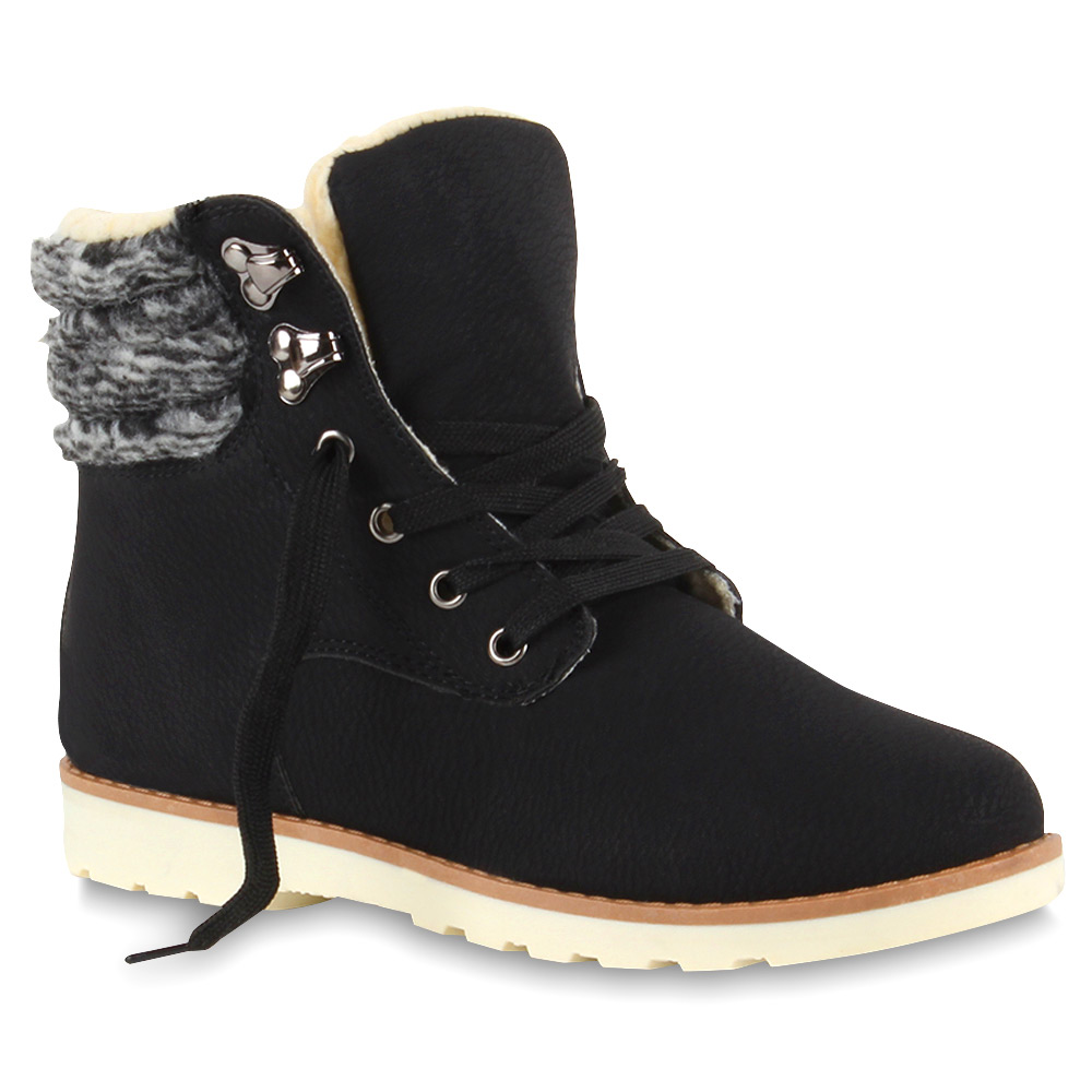 warm gef tterte damen winter stiefeletten outdoor boots 73348 top ebay