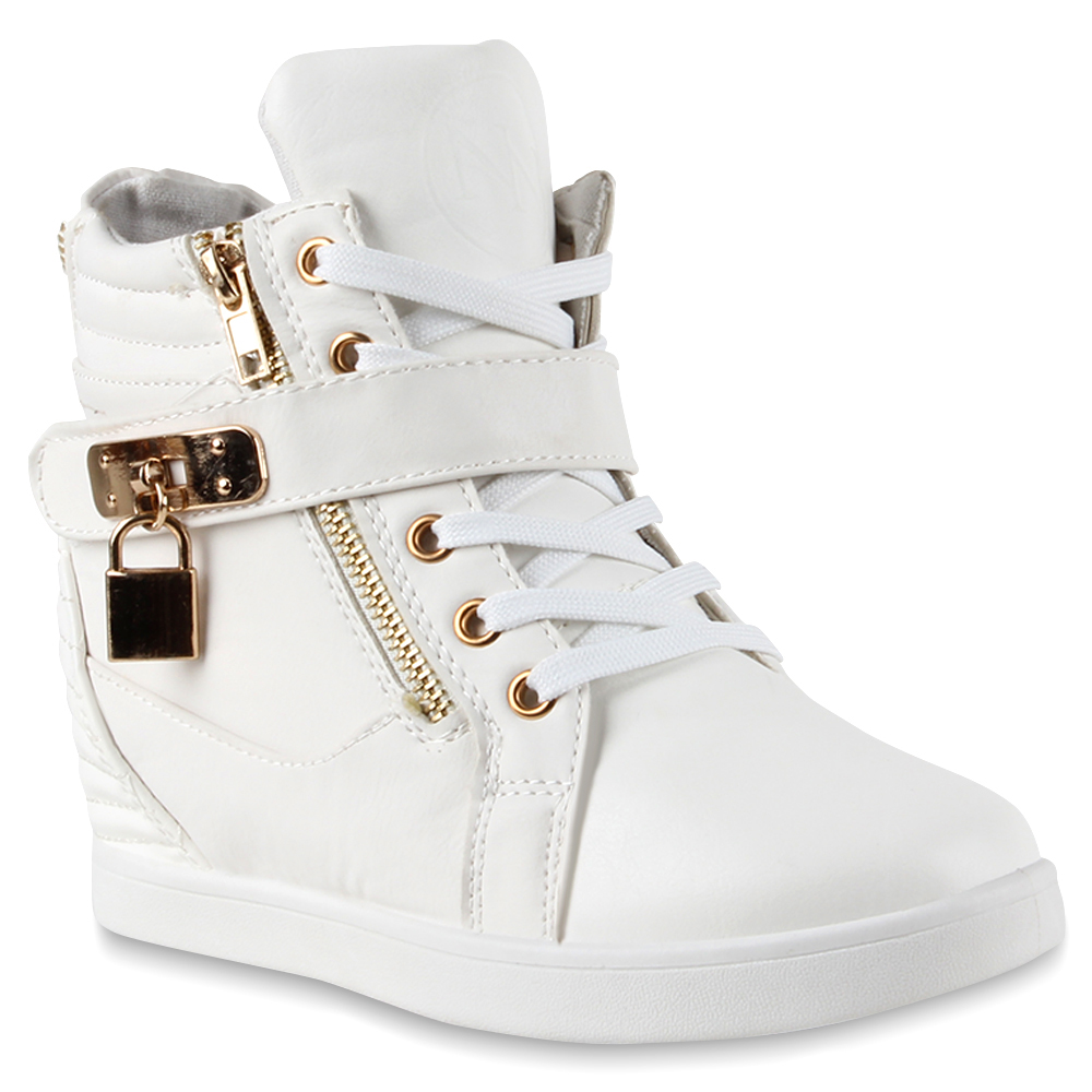 coole damen sneaker wedges keilabsatz sneakers zipper 73429 ebay. Black Bedroom Furniture Sets. Home Design Ideas