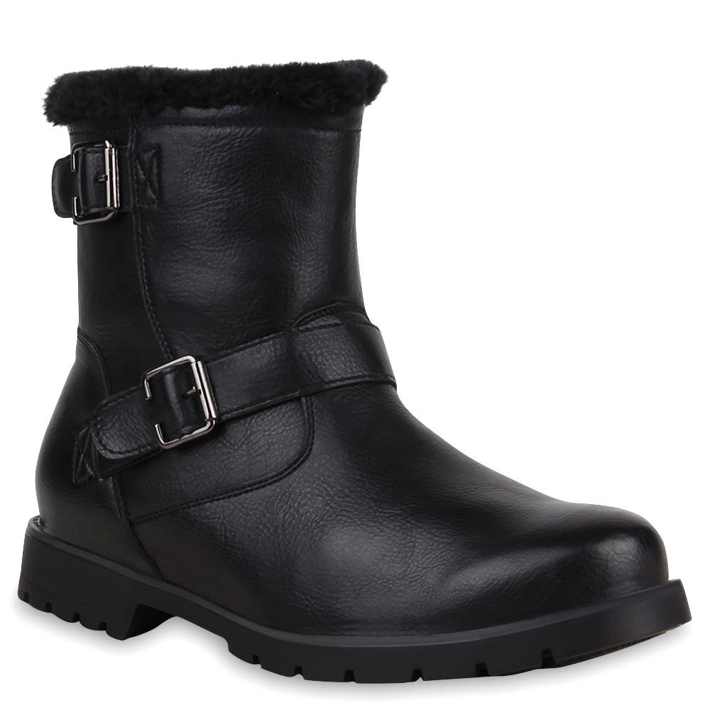 Warm Gefütterte Herren Boots Winterstiefel Outdoor Schuhe 73627 Mens Special