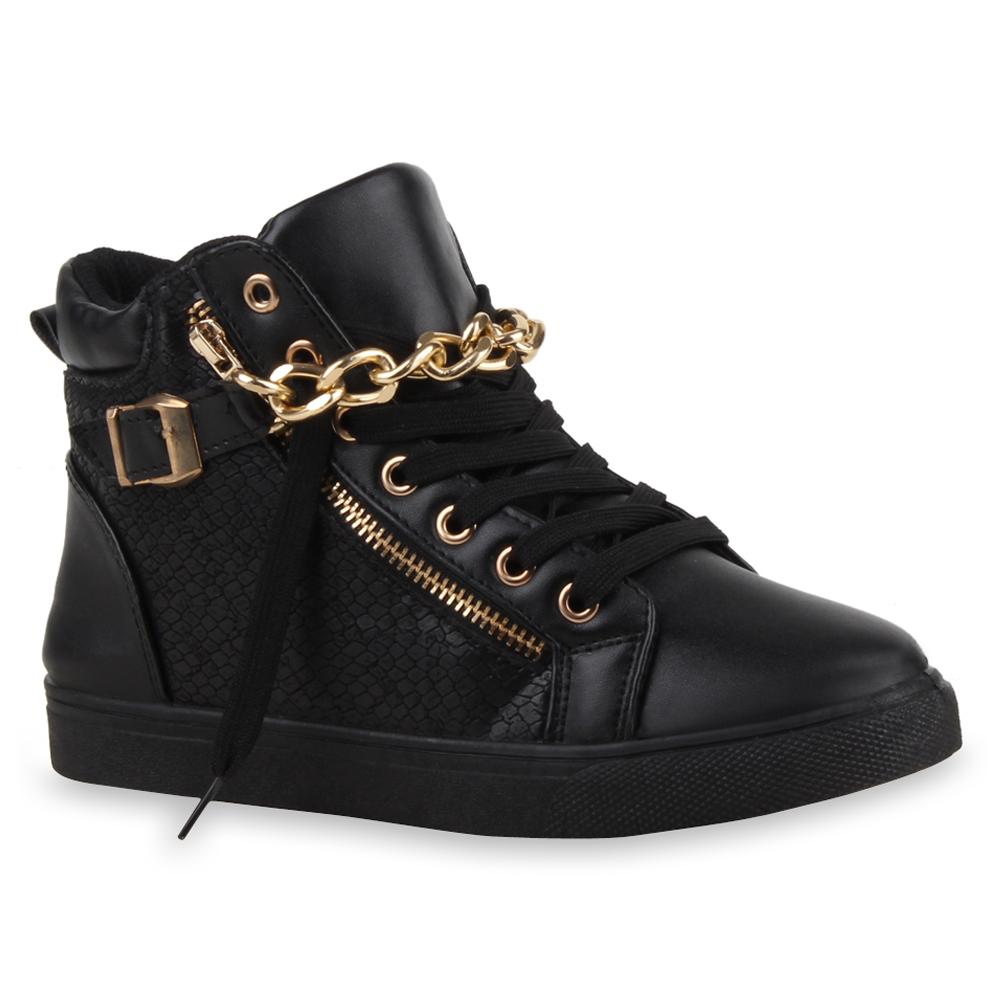 damen high top sneakers ketten zipper animal print sportschuhe 73653 top ebay. Black Bedroom Furniture Sets. Home Design Ideas