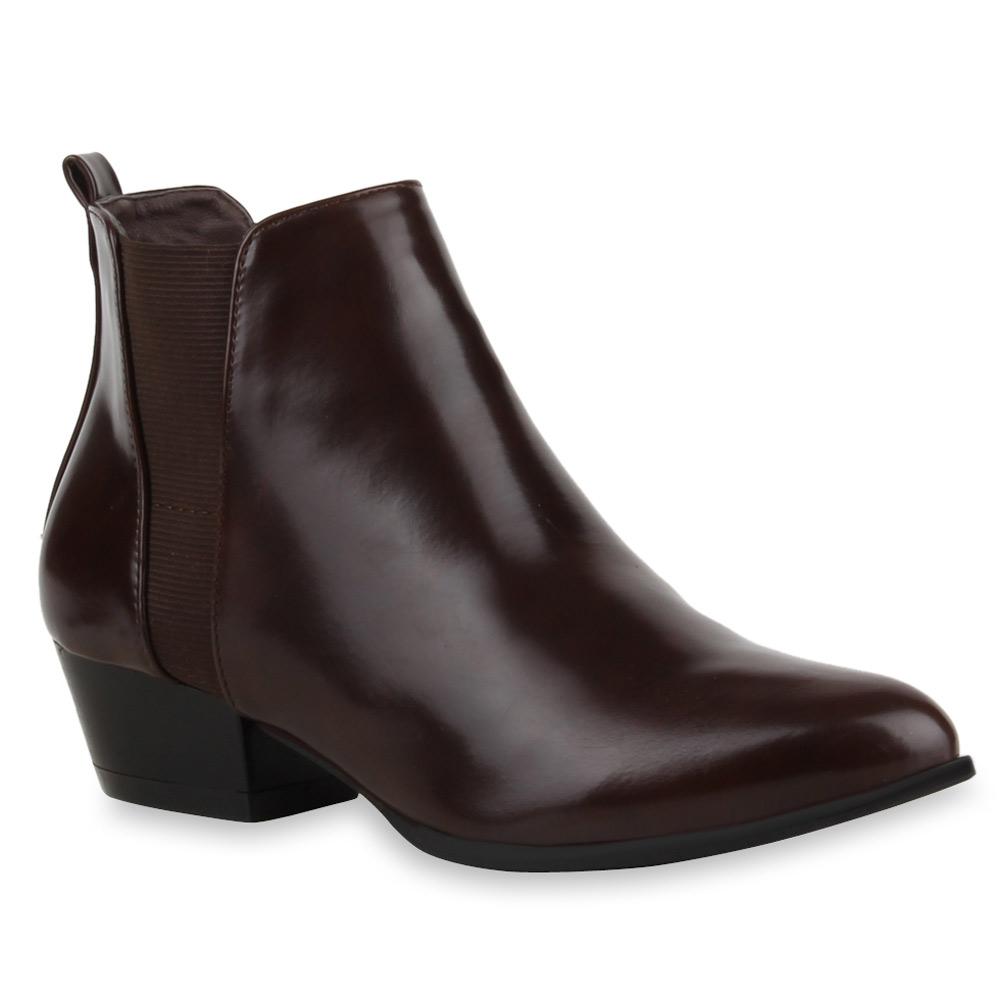 spitze damen chelsea boots stiefeletten cowboy stiefel. Black Bedroom Furniture Sets. Home Design Ideas