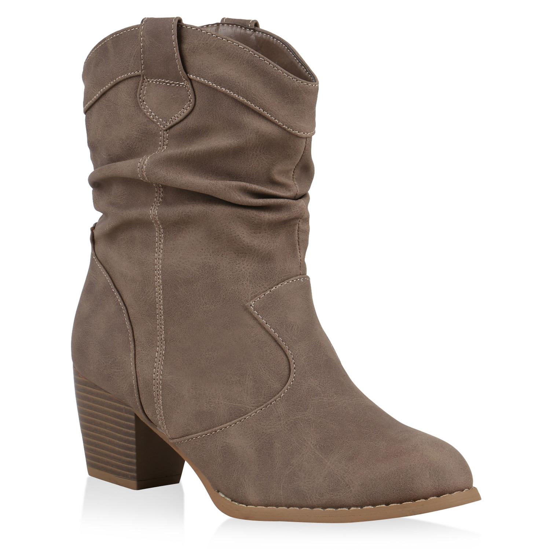 cowboy boots damen holzoptikabsatz western stiefeletten. Black Bedroom Furniture Sets. Home Design Ideas