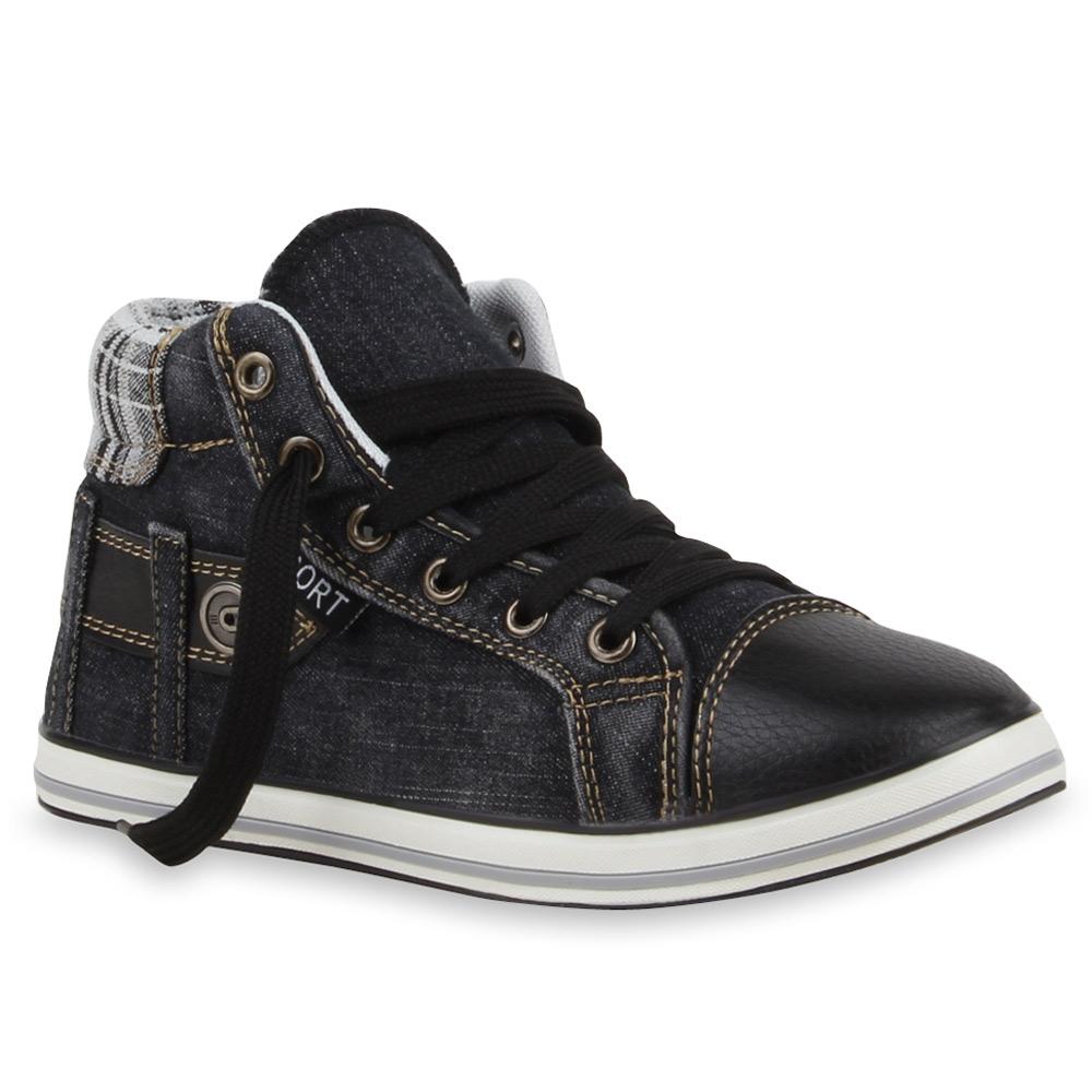 coole damen herren sneakers jeans denim schuhe 99619 gr 36 45 ebay. Black Bedroom Furniture Sets. Home Design Ideas