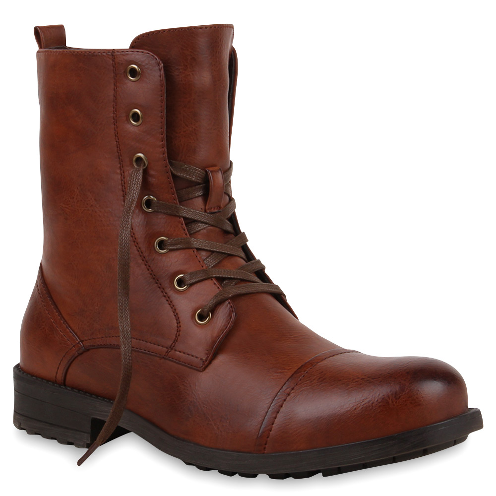 warm gef tterte herren worker boots schn rstiefel 99865 top trend top style ebay. Black Bedroom Furniture Sets. Home Design Ideas
