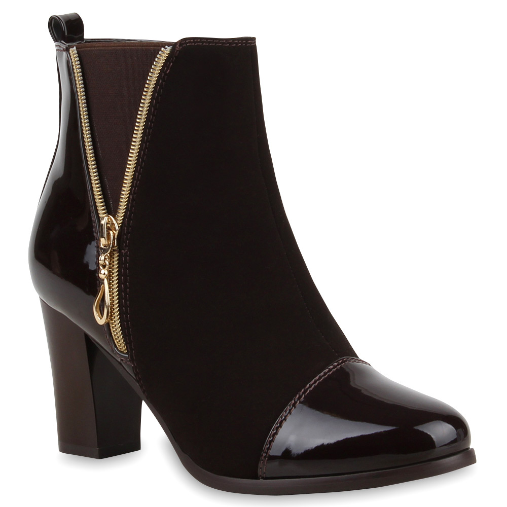 gef tterte damen stiefeletten stiefel winter high heels. Black Bedroom Furniture Sets. Home Design Ideas