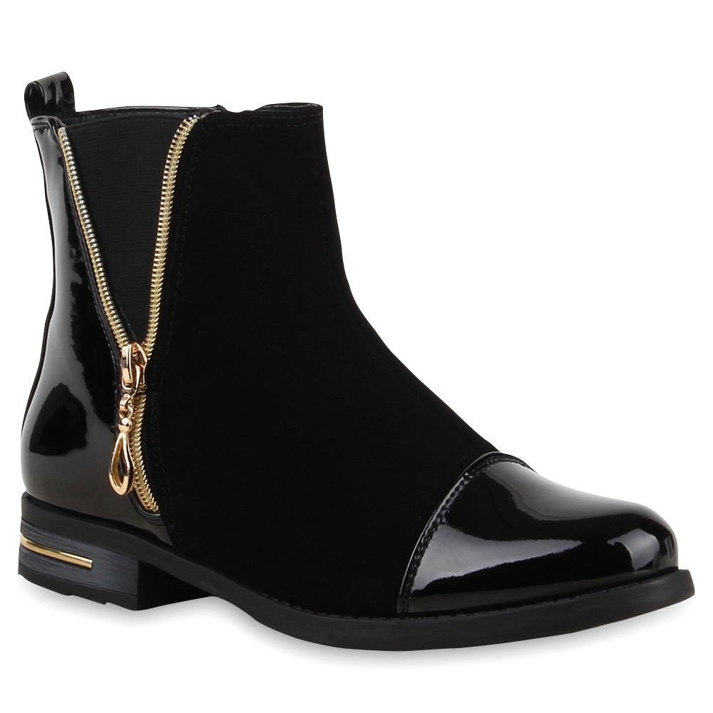 damen stiefeletten lack boots viele modelle schuhe 99885 gr 36 41 modatipp ebay. Black Bedroom Furniture Sets. Home Design Ideas