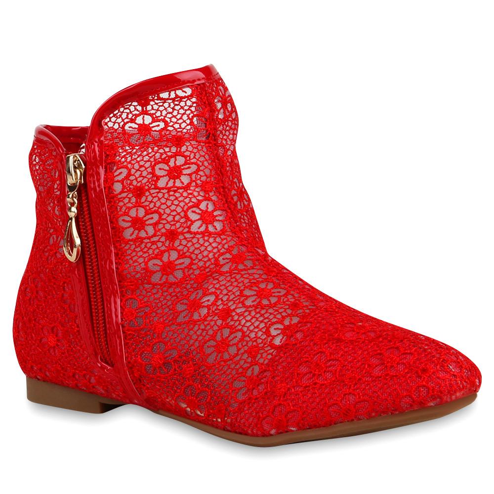 flache damen stiefeletten spitze ankle boots schuhe 74544 top ebay. Black Bedroom Furniture Sets. Home Design Ideas