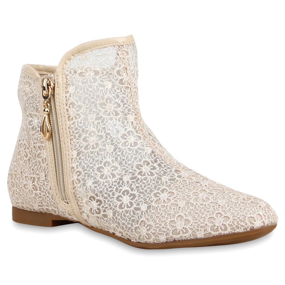flache damen stiefeletten spitze ankle boots schuhe 74544 ebay. Black Bedroom Furniture Sets. Home Design Ideas
