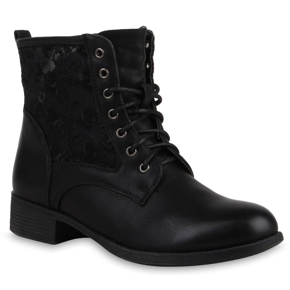 neu damen stiefeletten worker boots spitze strass stiefel. Black Bedroom Furniture Sets. Home Design Ideas