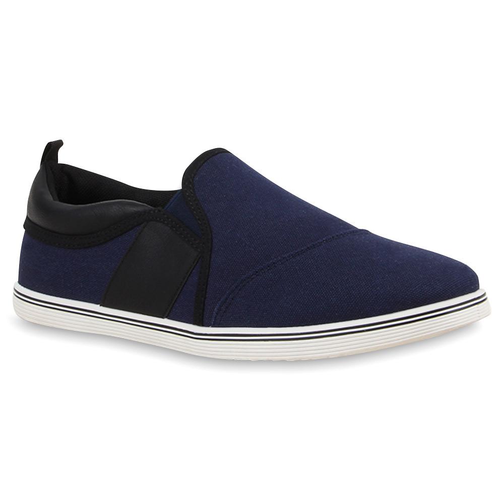 sportliche herren slip ons sneakers slipper schuhe 74564. Black Bedroom Furniture Sets. Home Design Ideas