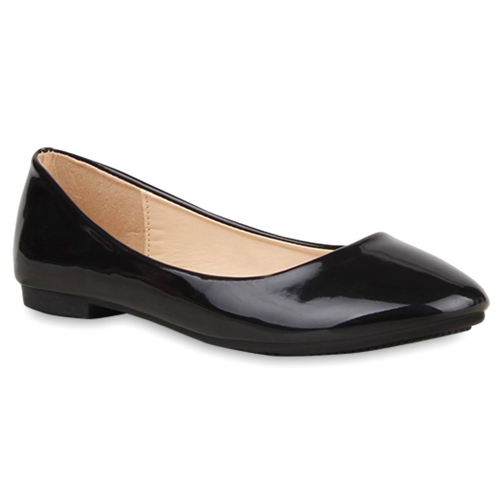 spitze damen ballerinas lack slipper flats schuhe 74711 top ebay. Black Bedroom Furniture Sets. Home Design Ideas