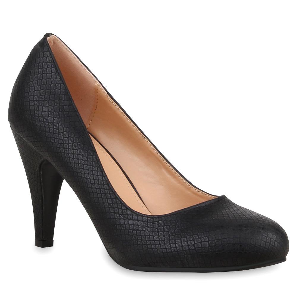 extravagante damen pumps high heels prints schuhe 74739 ebay. Black Bedroom Furniture Sets. Home Design Ideas