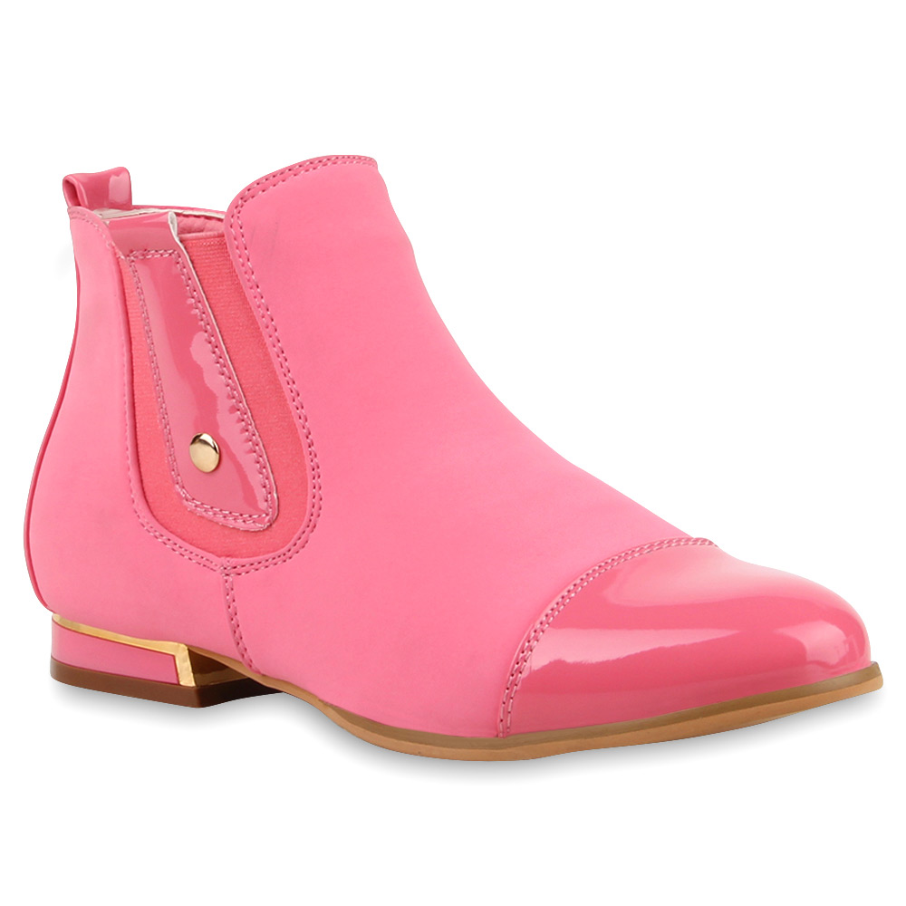 flache damen stiefeletten spitze ankle boots schuhe 74544 trendy ebay. Black Bedroom Furniture Sets. Home Design Ideas