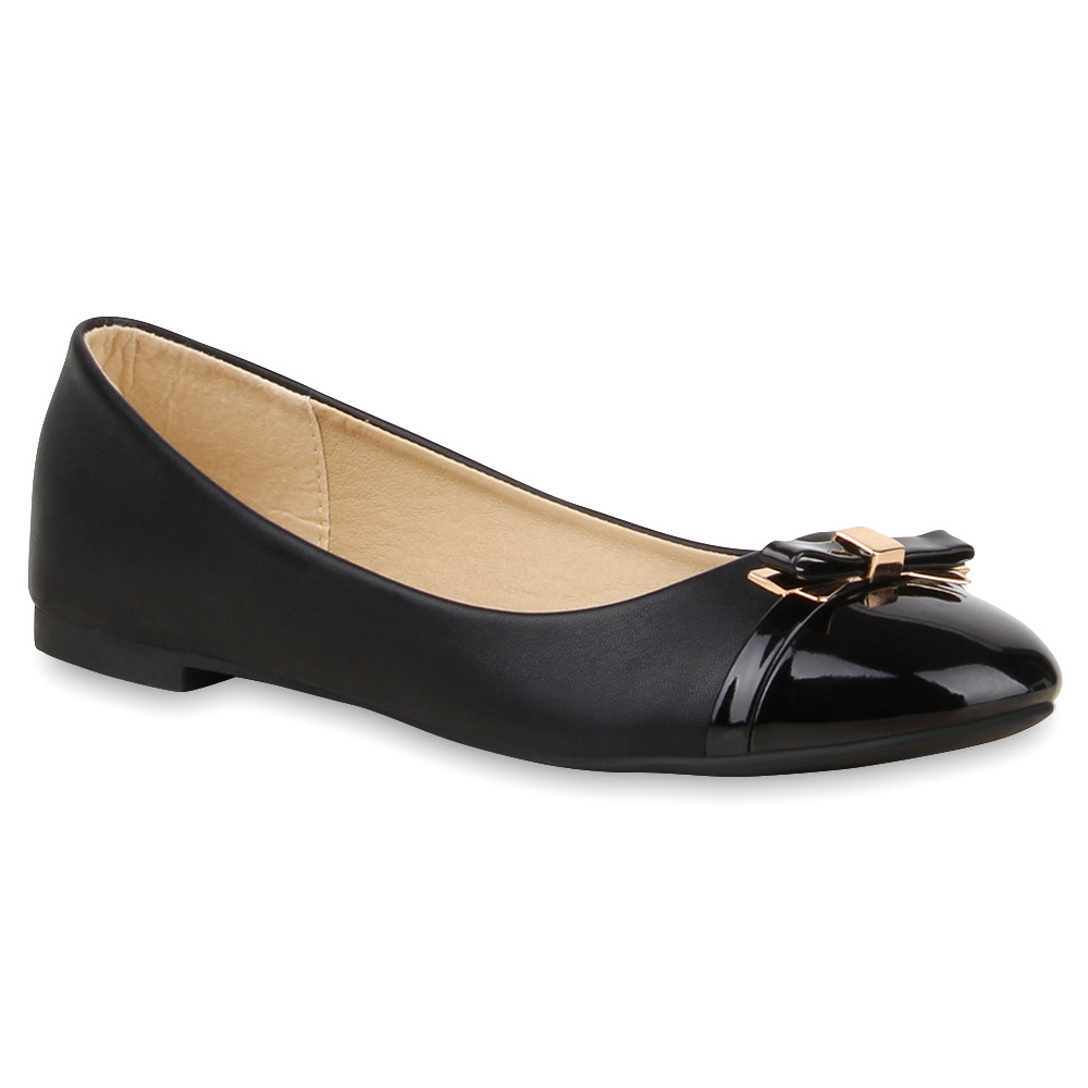 neu spitze damen ballerinas lack slipper flats schleifen schuhe 174 930 ebay. Black Bedroom Furniture Sets. Home Design Ideas