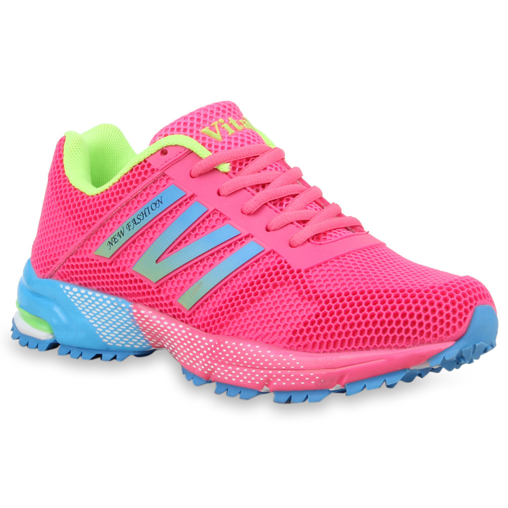 Damen Sportschuhe Sneakers Laufschuhe Neon Runners 75031