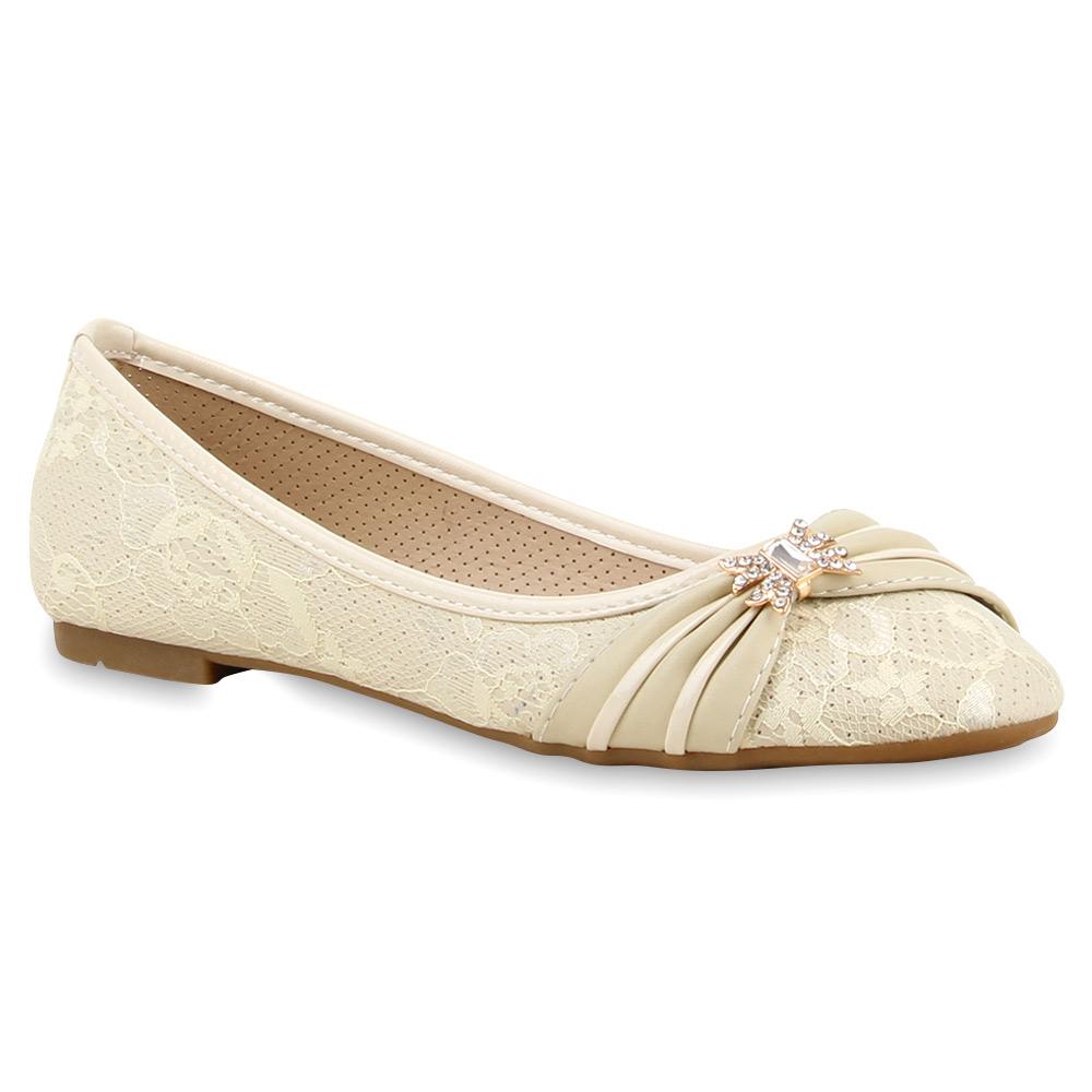 damen ballerinas spitze strass schuhe flats slipper 75105 new look ebay. Black Bedroom Furniture Sets. Home Design Ideas