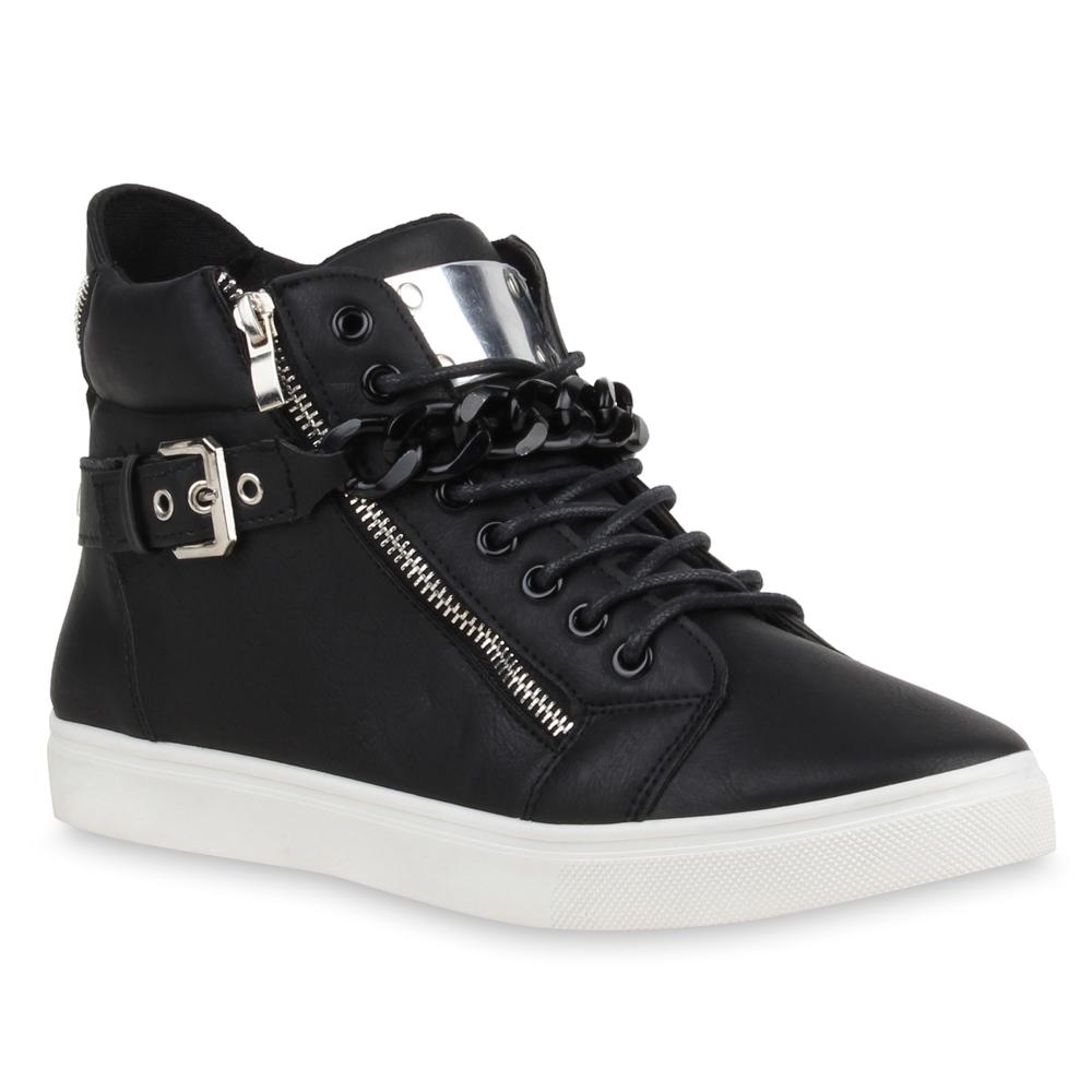 stylische herren sneakers high top sportschuhe zipper ketten 75171. Black Bedroom Furniture Sets. Home Design Ideas