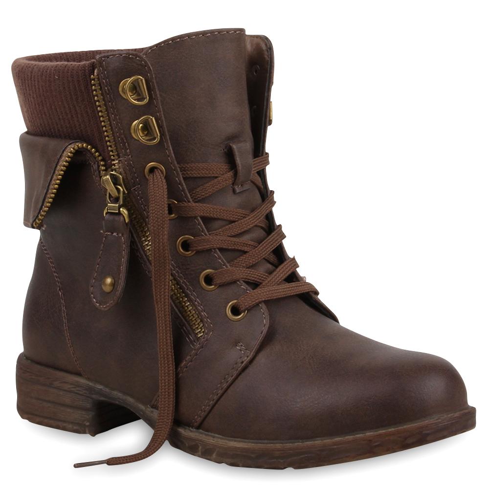 gef ttert damen stiefeletten worker boots zipper schn rstiefel 72681. Black Bedroom Furniture Sets. Home Design Ideas