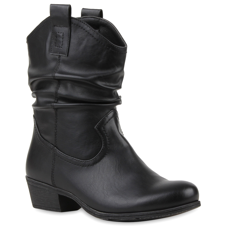 damen stiefeletten boots weitschaftstiefel schuhe 75281 ebay. Black Bedroom Furniture Sets. Home Design Ideas
