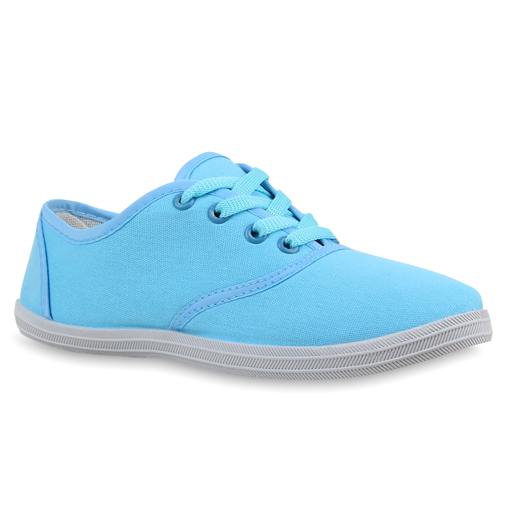Damen Sneakers Freizeit Schuhe Stoffschuhe Trendfarben 75308