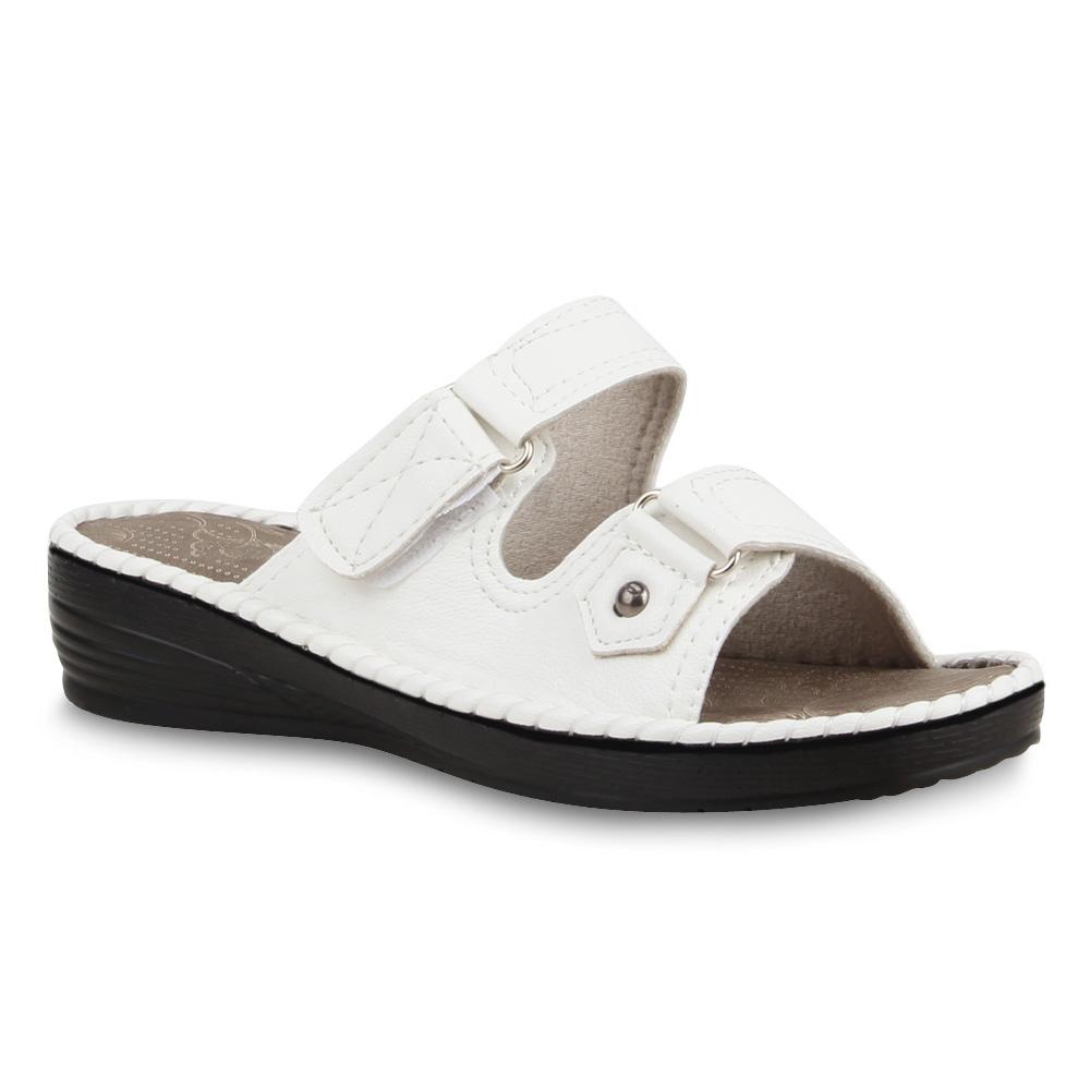 bequeme damen sandalen komfort schuhe pantoletten 75310 trendy. Black Bedroom Furniture Sets. Home Design Ideas