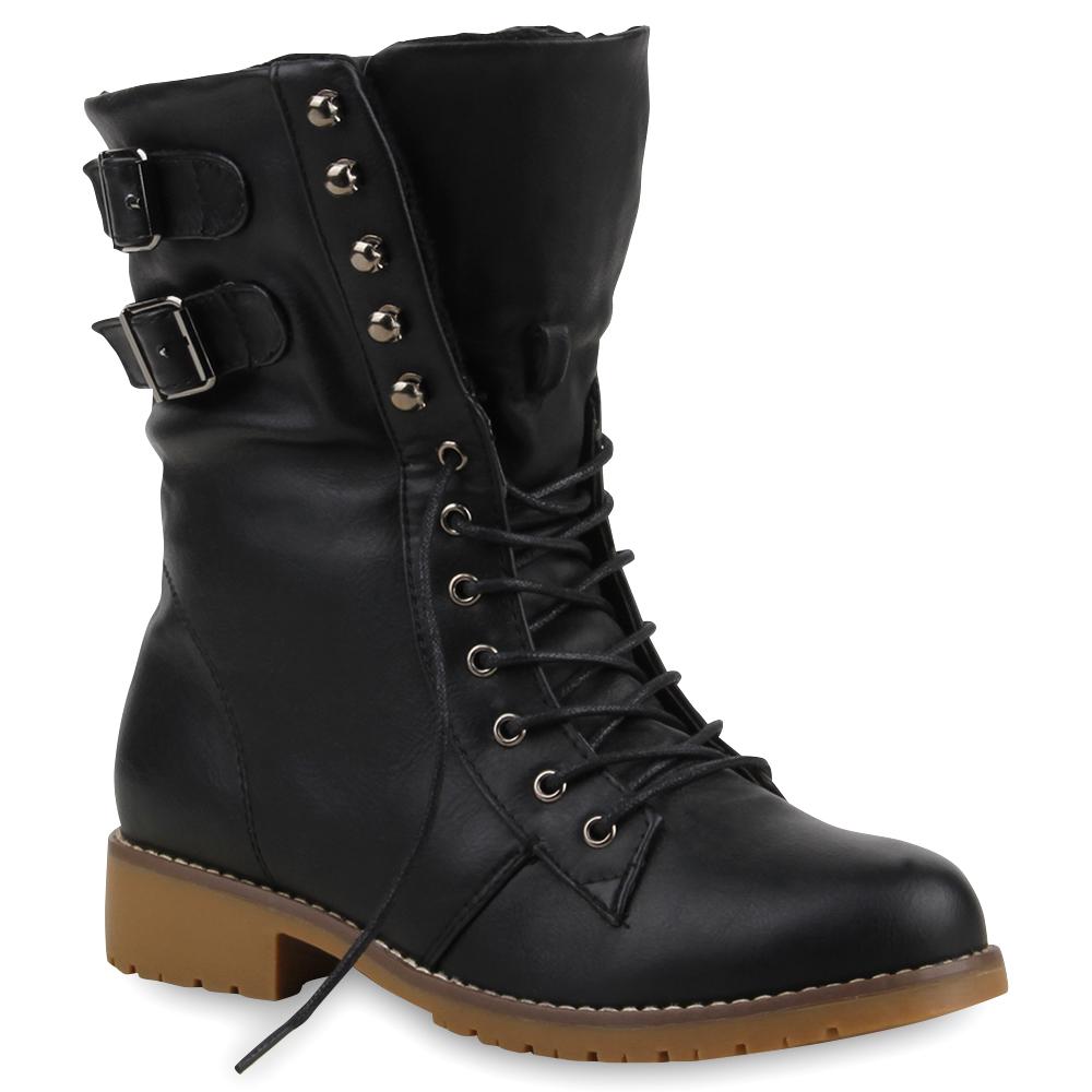 damen worker boots stiefeletten schn rstiefel lederoptik schuhe 98254 new look ebay. Black Bedroom Furniture Sets. Home Design Ideas