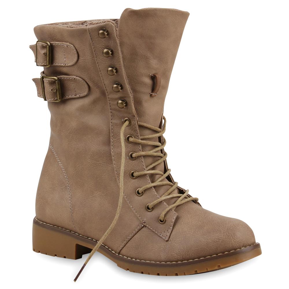 warm gef tterte damen stiefeletten worker boots stiefel. Black Bedroom Furniture Sets. Home Design Ideas