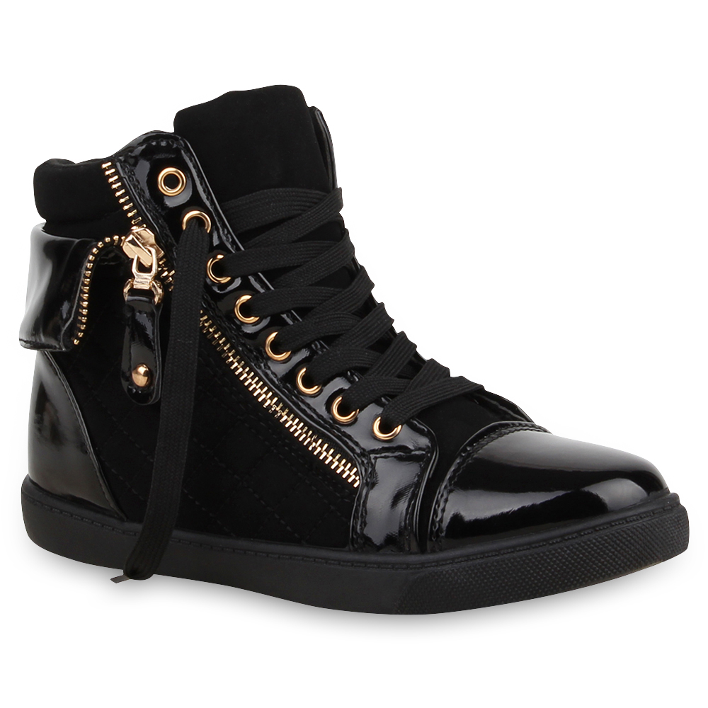 damen sneakers high top sportschuhe zipper stoffschuhe. Black Bedroom Furniture Sets. Home Design Ideas