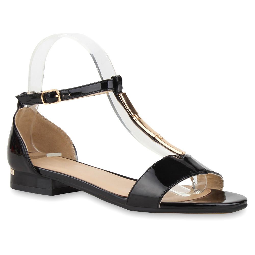 damen sandalen blockabsatz schuhe lack t strap 75463 trendy. Black Bedroom Furniture Sets. Home Design Ideas