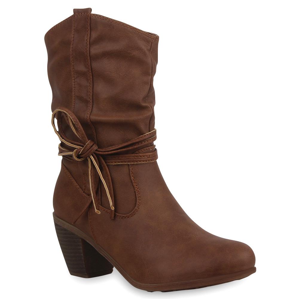 damen stiefeletten stiefel cowboy boots blockabsatz schuhe 75569 ebay. Black Bedroom Furniture Sets. Home Design Ideas