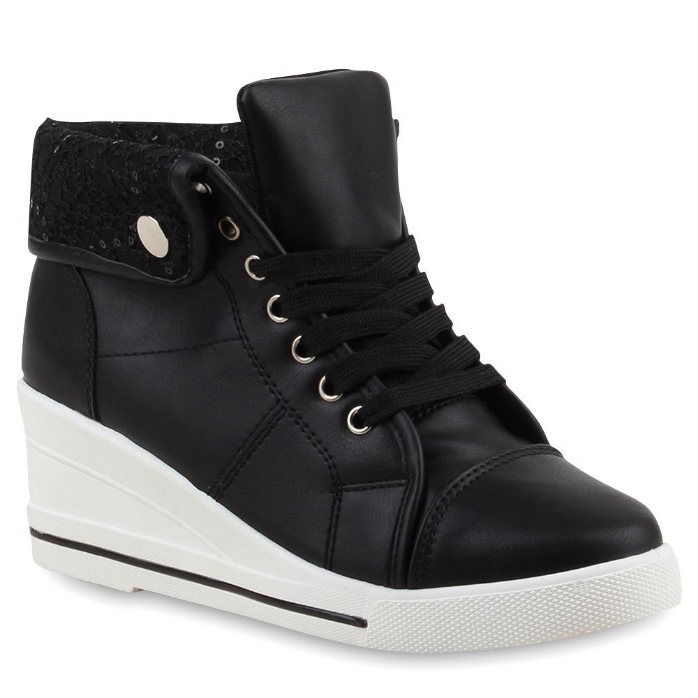 damen sneakers sneaker wedges keilabsatz schuhe spitze 75643 new look ebay. Black Bedroom Furniture Sets. Home Design Ideas