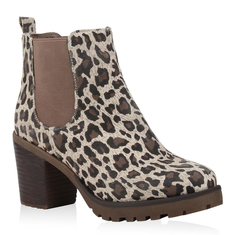 chelsea boots damen block absatz profil sohle stiefeletten. Black Bedroom Furniture Sets. Home Design Ideas