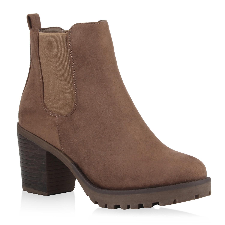 Damen Profilsohle Stiefeletten Chelsea botas Profilsohle Damen Blockabsatz zapatos 76976 Top 2826f3