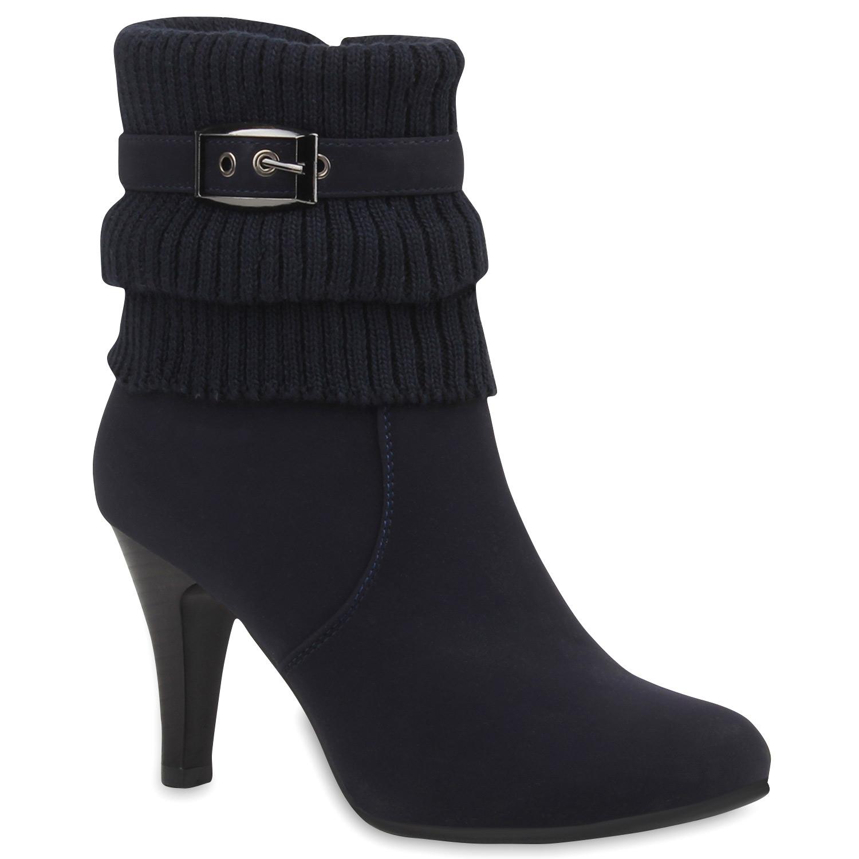 Gefütterte Damen Stiefeletten Stulpen Stiefel Zapatos High Heels 77274  Zapatos Stiefel ab1b14