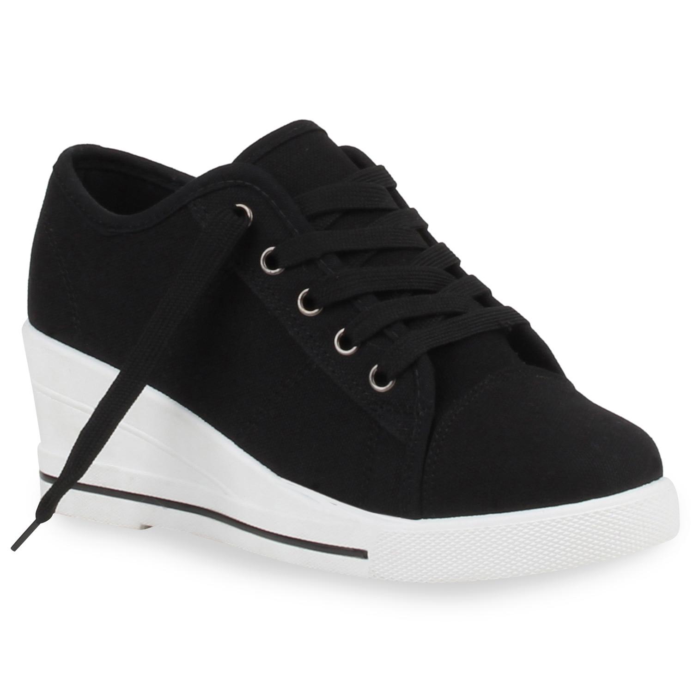 damen sneakers sneaker wedges keilabsatz schuhe spitze 75643 top ebay. Black Bedroom Furniture Sets. Home Design Ideas