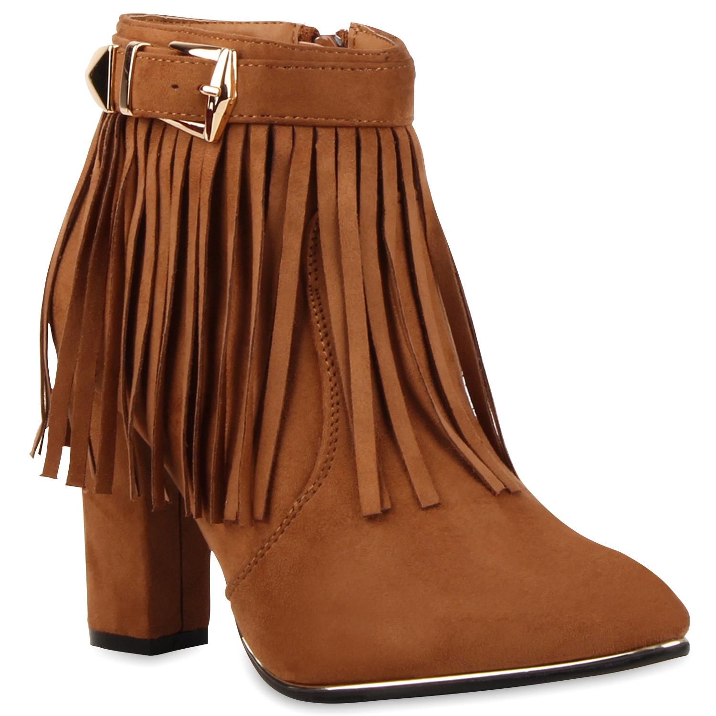 damen stiefeletten fransen boots wildlederoptik 77495 new. Black Bedroom Furniture Sets. Home Design Ideas