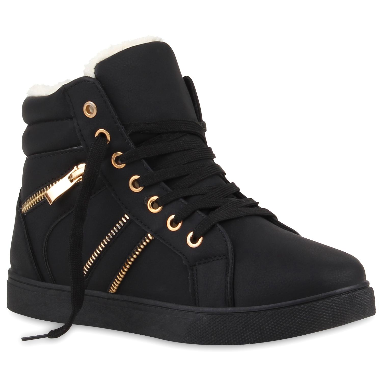 damen high top sneakers lederoptik zipper sportschuhe 75262 schuhe ebay. Black Bedroom Furniture Sets. Home Design Ideas