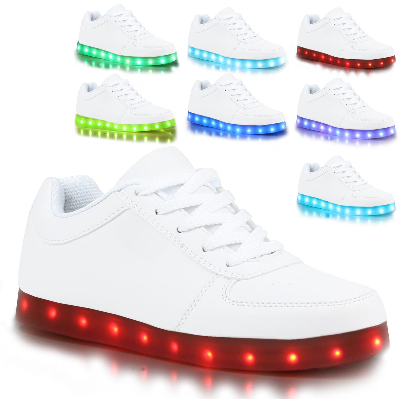 blinkende damen sneakers led light farbwechsel schuhe 77824 led licht trendy ebay. Black Bedroom Furniture Sets. Home Design Ideas