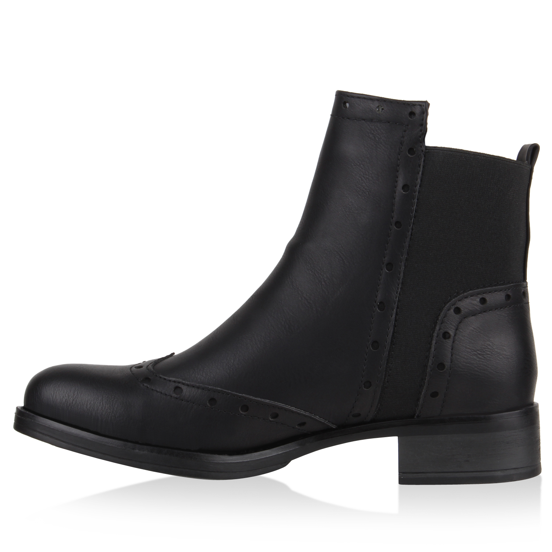 damen stiefeletten chelsea boots dandy style brogues 77870 new look. Black Bedroom Furniture Sets. Home Design Ideas