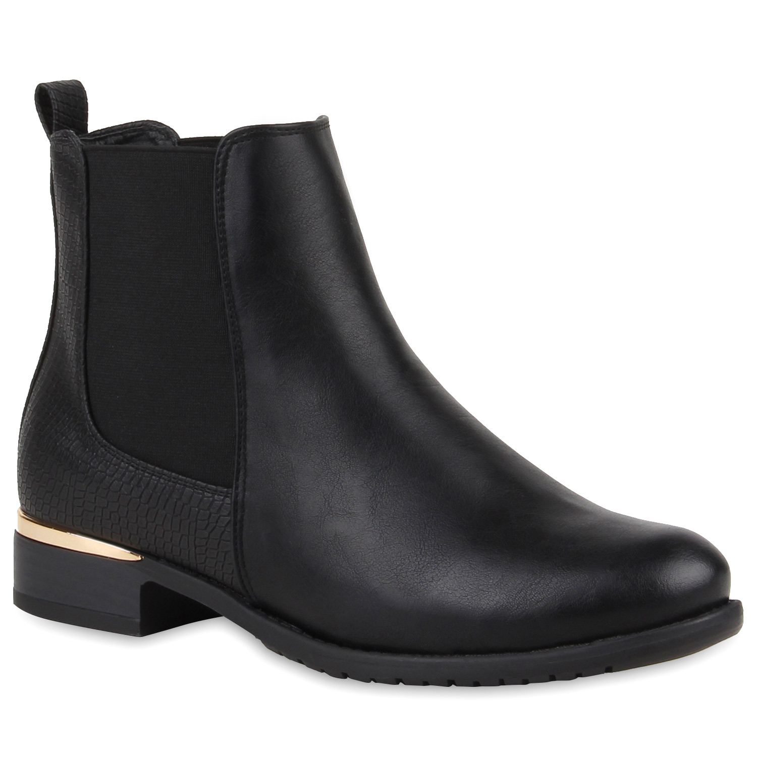 damen stiefeletten chelsea boots london style schuhe 77911 new look ebay. Black Bedroom Furniture Sets. Home Design Ideas