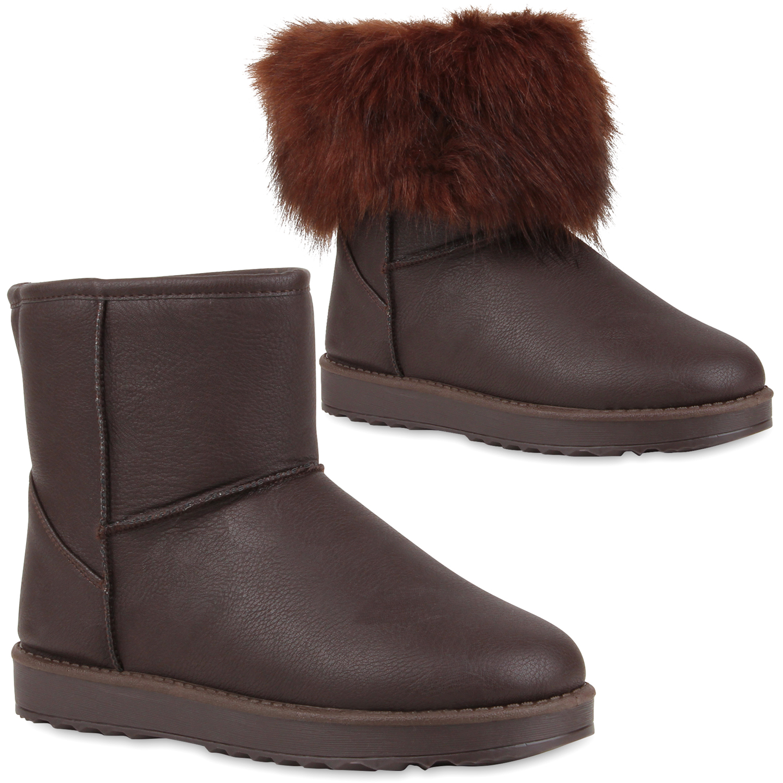 Warme Winter Boots Damen Stiefel 94767 Gr. 36-41 Schuhe