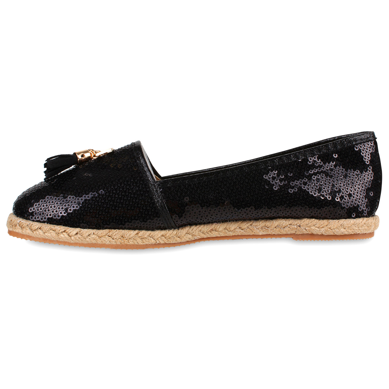 damen espadrilles pailletten bast quasten beach schuhe 79113 new look ebay. Black Bedroom Furniture Sets. Home Design Ideas