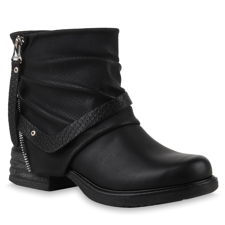 damen biker boots zipper stiefeletten schnallen lederimitat 79245 new look ebay. Black Bedroom Furniture Sets. Home Design Ideas