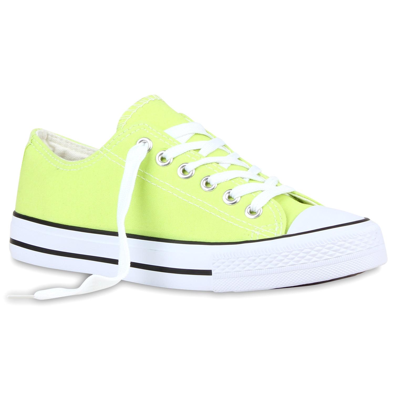 Sportliche-Damen-Sneakers-97316-Nieten-Flach-Schnuerer-36-42-Schuhe