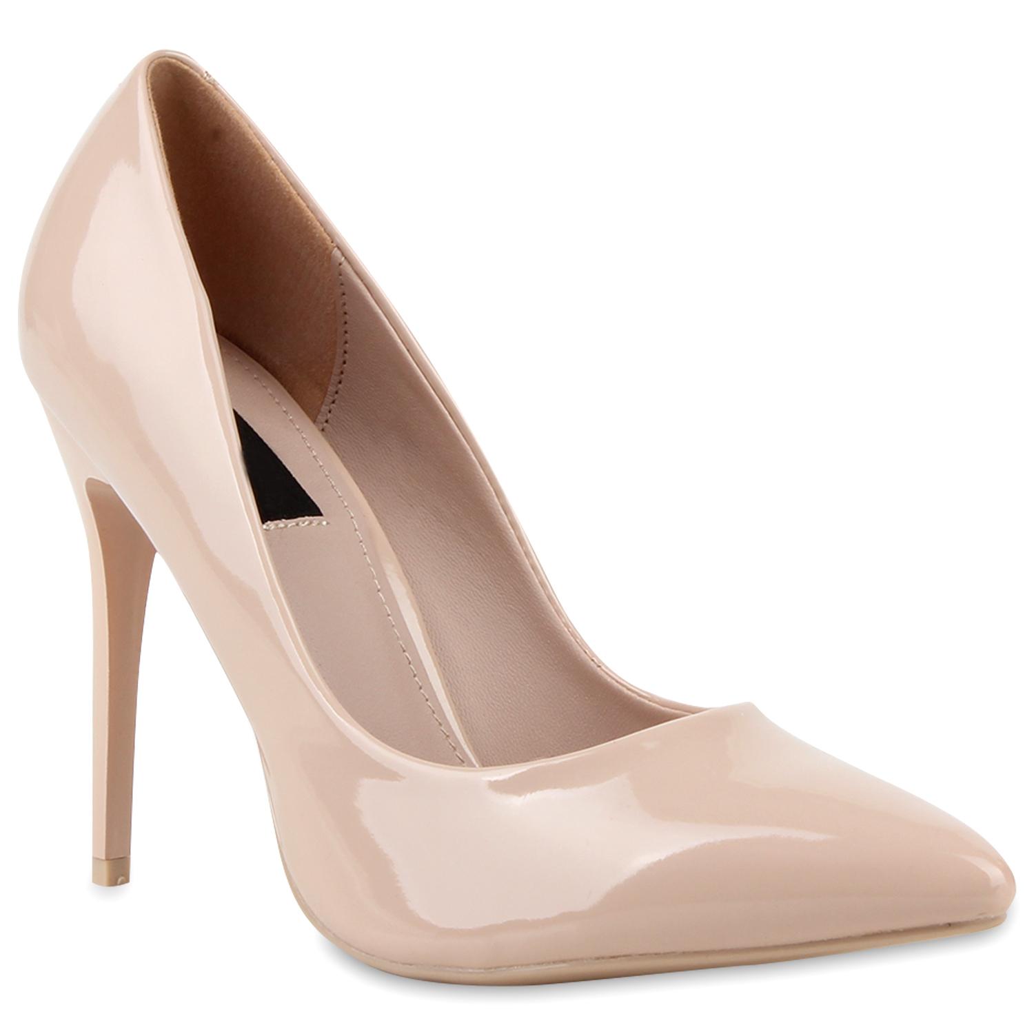 plateau damen pumps high heels lederoptik 890716 schuhe ebay. Black Bedroom Furniture Sets. Home Design Ideas