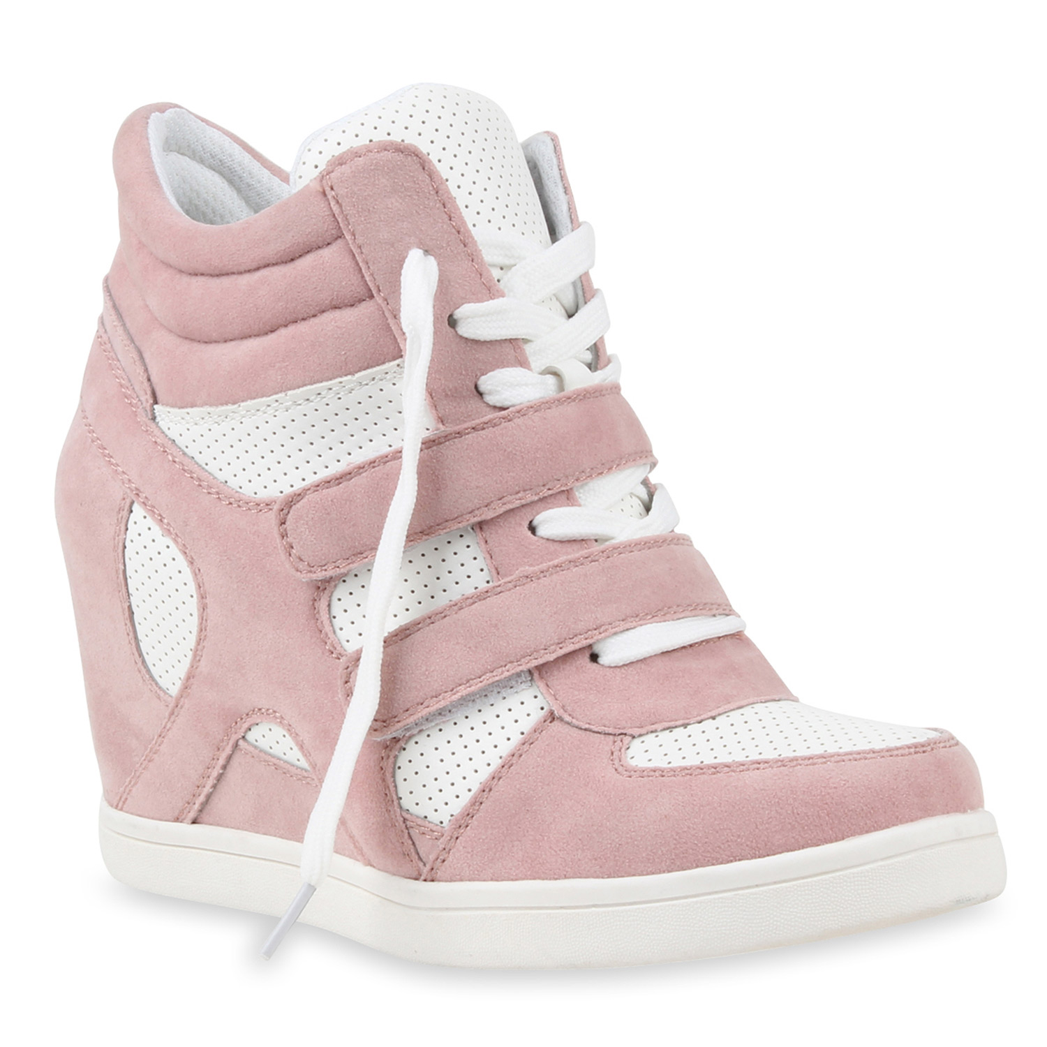 damen sneakers sneaker wedges lack keilabsatz schuhe 75204 ebay. Black Bedroom Furniture Sets. Home Design Ideas