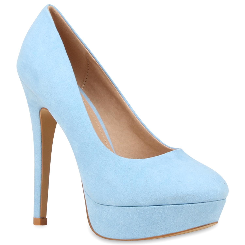 plateau damen pumps high heels schuhe lederoptik 890716 ebay. Black Bedroom Furniture Sets. Home Design Ideas