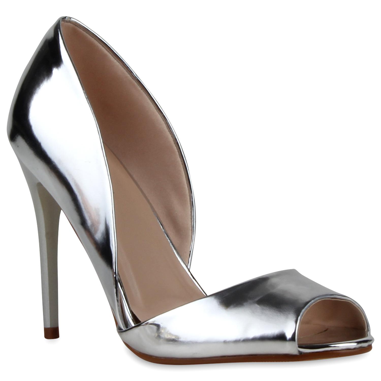 elegante damen sandaletten high heels sommerschuhe 890719 ebay. Black Bedroom Furniture Sets. Home Design Ideas
